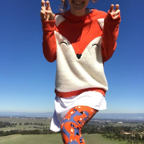 Divided Tops - Fox Sweater 🦊 Sweatshirt Hoodie Orange